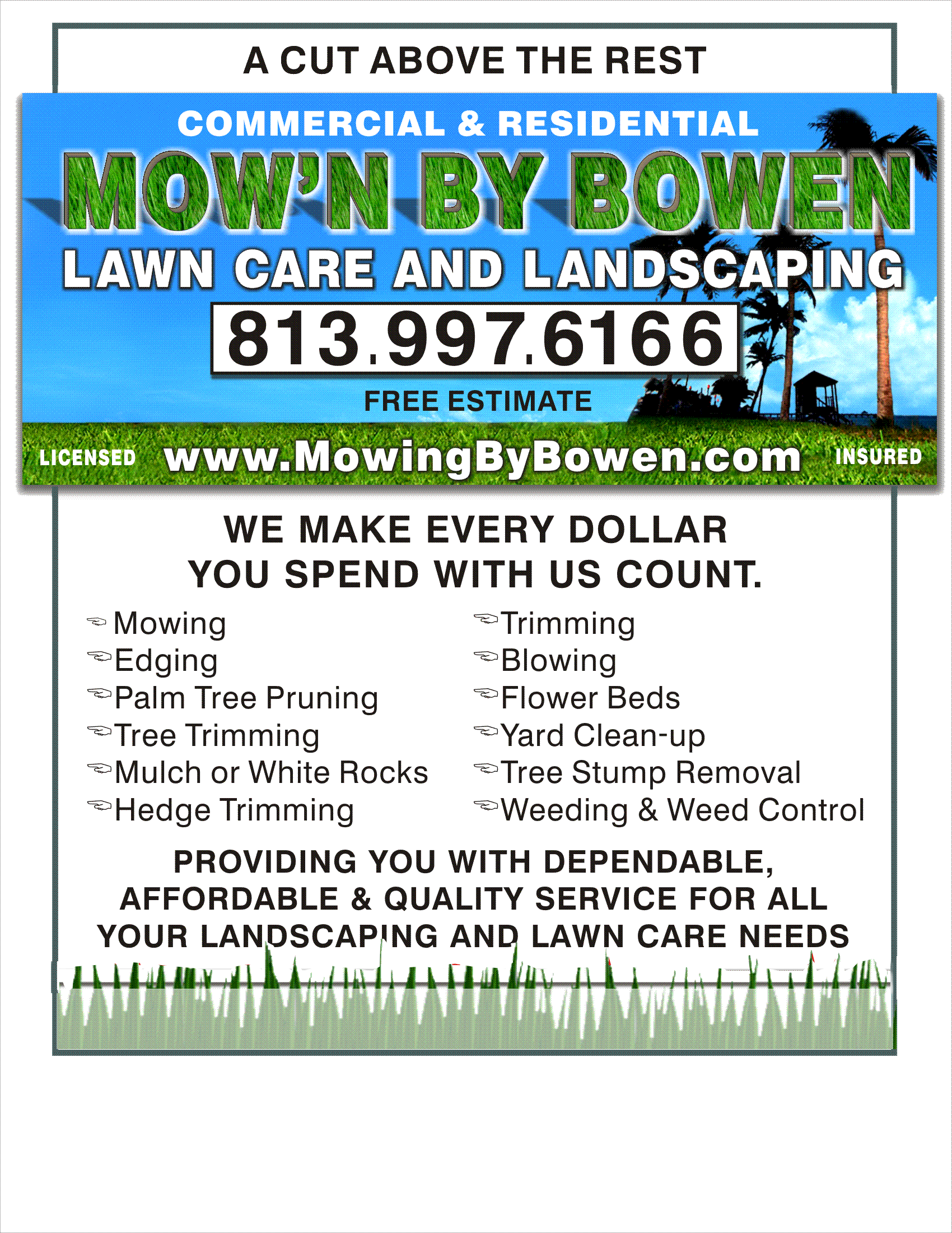 Chapter marketing ideas for landscaping business scaping for Landscaping flyers templates